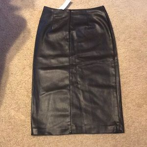Cute patent leather skirt by H&M